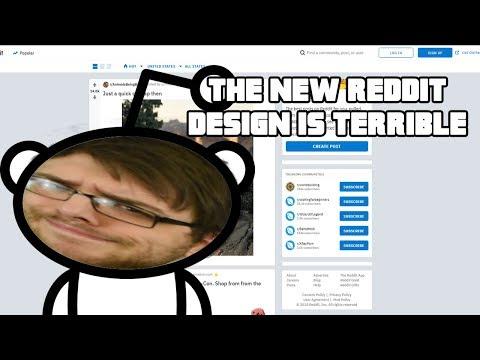 The New reddit Design Is Terrible
