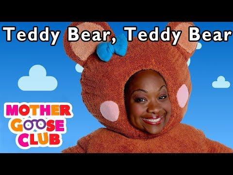 NURSERY RHYMES | Teddy Bear Teddy Bear | More Nursery Rhymes | Mother Goose Club | Kids Rhymes