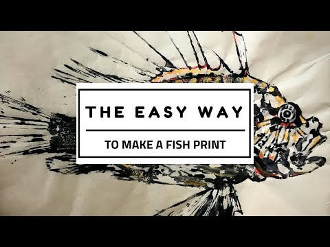 EASY WAY To Make A Fish Print | Gyotaku | Lionfish