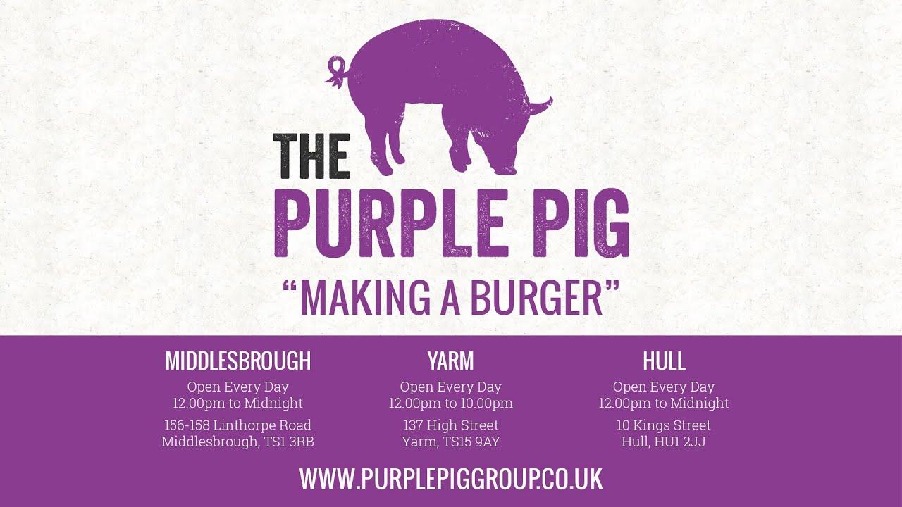 The Purple Pig - Making A Burger