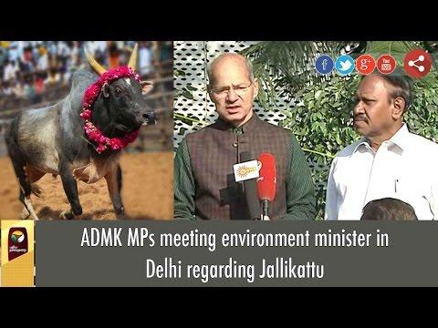 ADMK MPs meeting environment minister in Delhi regarding Jallikattu