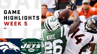 Broncos vs. Jets Week 5 Highlights | NFL 2018