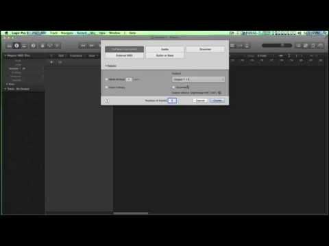 How Setup Control Route External Midi Keyboard Logic Pro X question