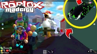 🐓 MAD CITY 🐓 ROBLOX BANSHEE FLYING AUTO TO CONQUER FOR FREE AND GIANT CHICKEN