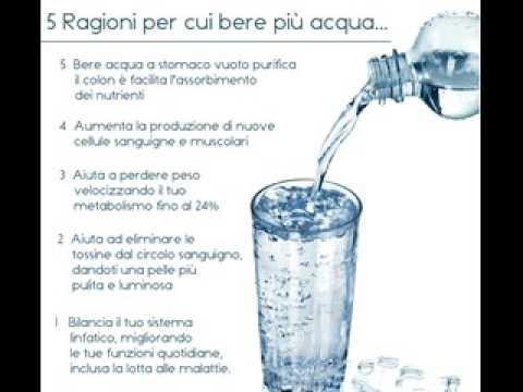 bere più acqua perde peso