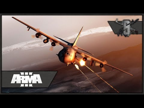 AC-130U Spooky Gunner - ArmA 3 - Close Air Support for SAS Ground-Team