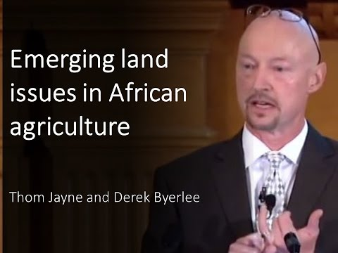 Emerging land issues in African agriculture