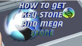 How to get key stone and mega stone meta fire red  ( x and y version )