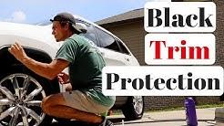Protecting Black Plastic Trim