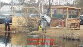 видео Рыбалка на рыболовной базе