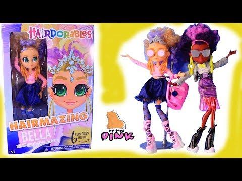 Огромные Куклы HAIRDORABLES Новинка 2019 ОДЕВАЛКИ DRESS UP DOLL Игры для Девочек с Май Тойс Пинк