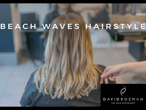 BEACH WAVES | WOMENS MEDIUM LENGTH HAIRSTYLE | HAIR SALON | Manchester 2017