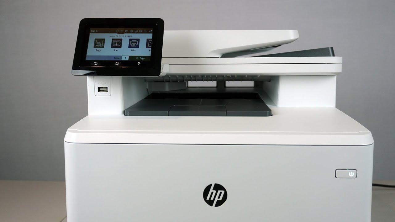 Hp Colorjet Pro M479fdw Color Laser Multi Function Printer Review Youtube