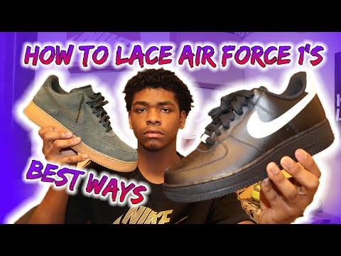 How to lace air force 1's🔥☔️(Loose)THE BEST WAYS