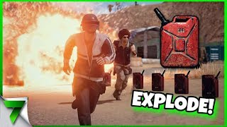 NEW EXPLODING GAS CANS!!! | PUBG