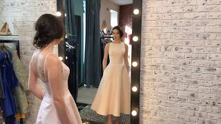 Свадебный салон Орхидея — Короткое свадебное платье