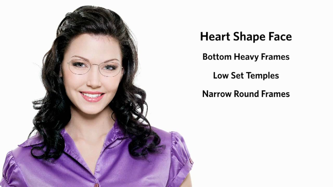 Glasses Frame Heart Shaped Face : Frames for a Heart Face Shape - Female - YouTube