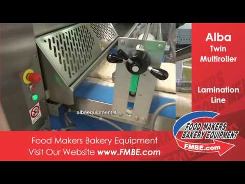 Alba Twin Multiroller | Food Makers Bakery Equip