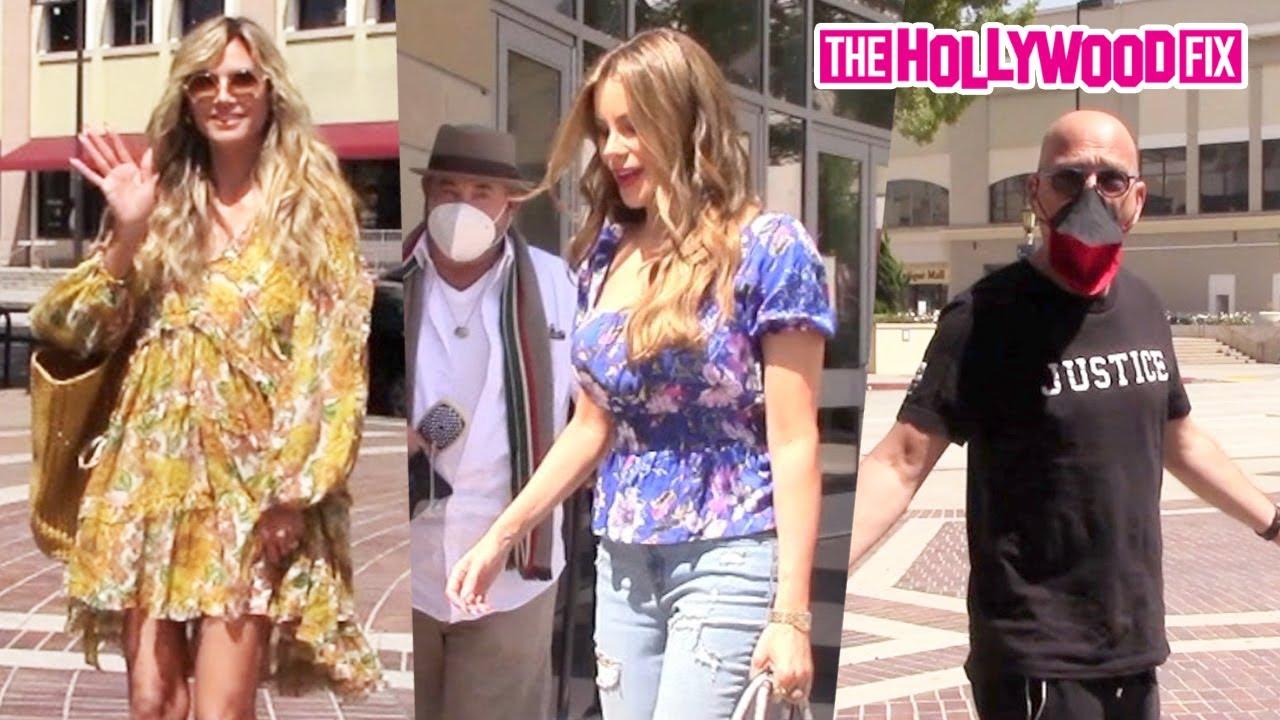 Heidi Klum, Sofia Vergara & Howie Mandel Arrive To America's Got Talent Studios In Los Angeles