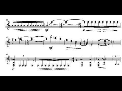 Sofia Gubaidulina - Serenade for Guitar (Score video)