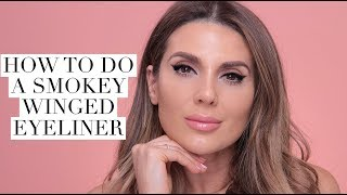 how to do a smokey winged eyeliner makeup look ali andreea