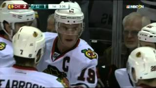 Jonathan Toews Goes Top Shelf on Jones