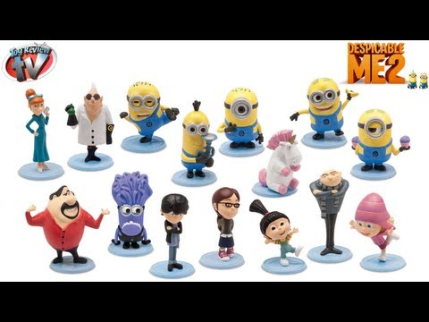 DESPICABLE ME 2 MINIONS CUTE SURPRISE BLIND BAGS MOVIE TOYS EPISODE VIDEO REVIEW UNICORN