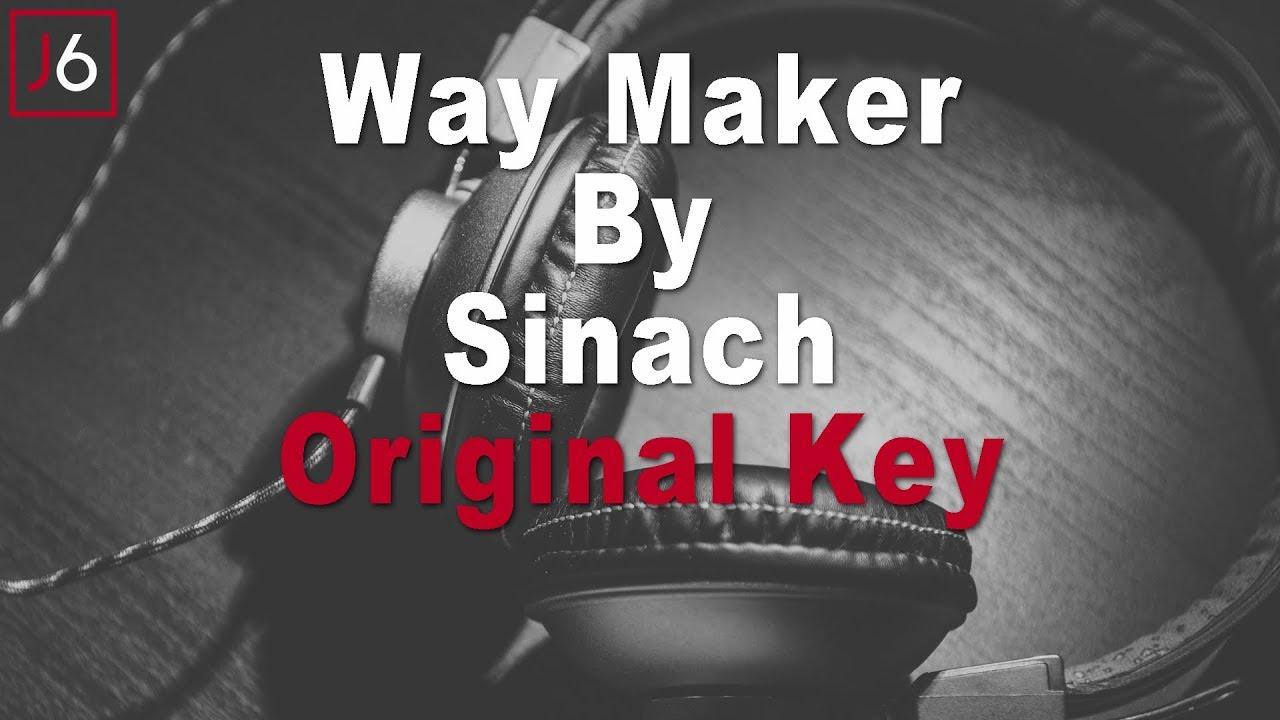 Sinach | Waymaker Instrumental Music and Lyrics Original Key