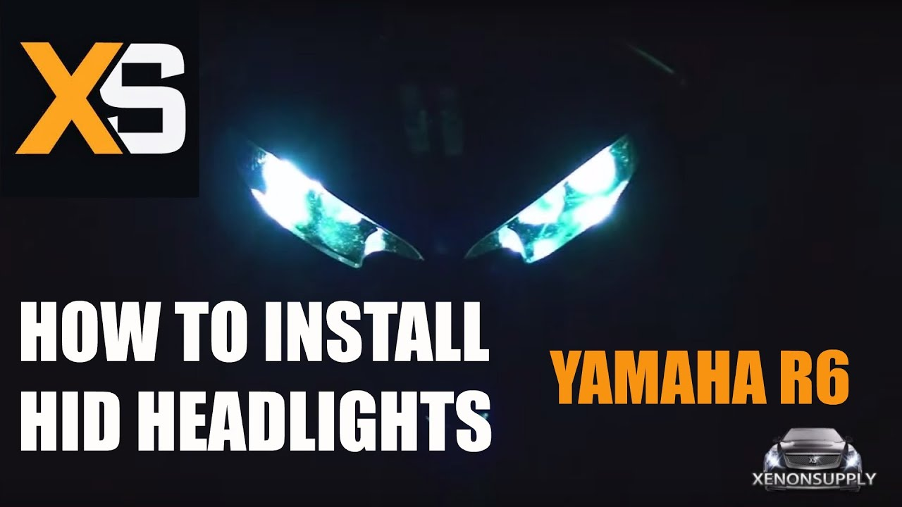 how to install xenon hid yamaha r6 2003 2010 [ 1280 x 720 Pixel ]