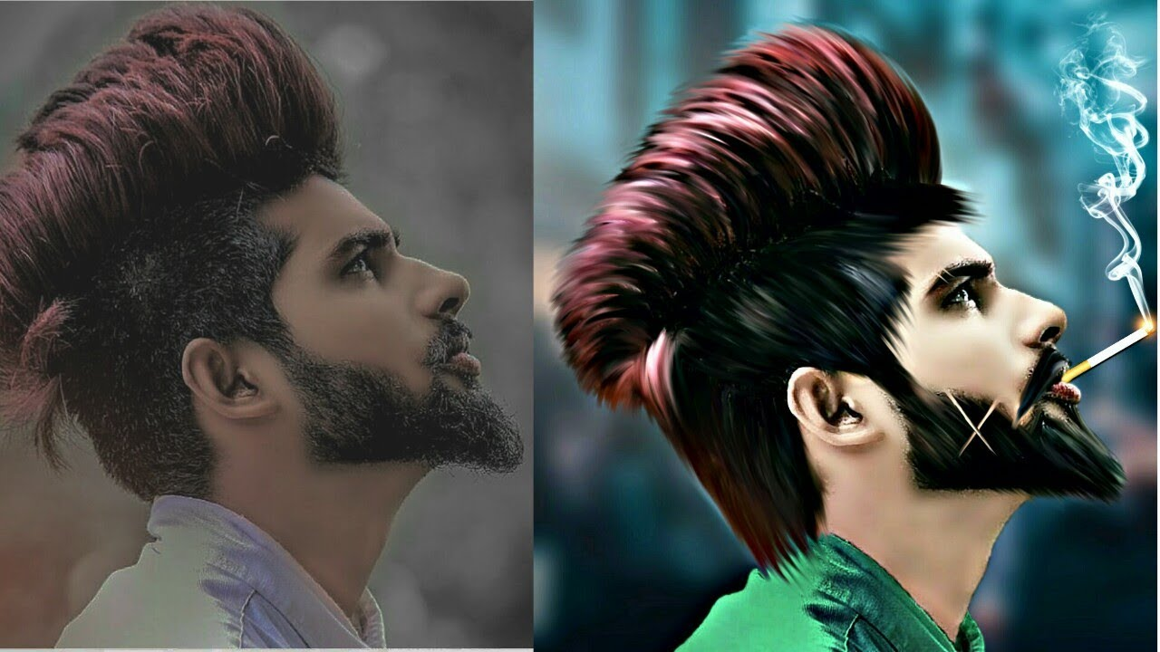 Picsart Editing || Stylish Look + New Hairstyle + CB Face ...