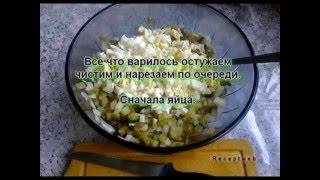 Видео рецепты - салат оливье с яблоками и курицей