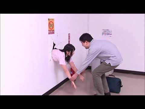 Poor Japanese Girl Ai Uehara Stuck in Wall :( thumbnail