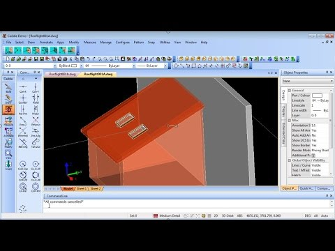 Adding Rooflights To Your 3d Model In Caddie The Easy To