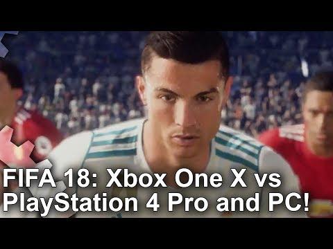 [4K] FIFA 18 Xbox One X vs PS4 Pro vs PC Graphics Comparison