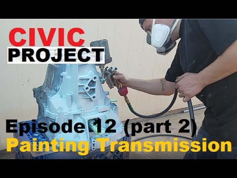 EF Civic project ep.12 (How to paint your transmission) Part 2