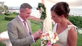 Ведущий - Олег Малахов. Видео-ролик свадебного торжества.