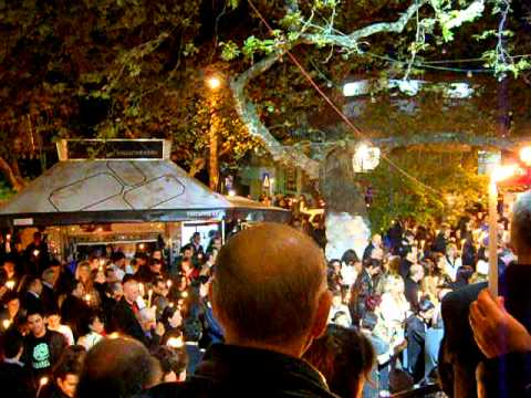 Easter Saturday Midnight in Church of Agii Anargyri, Thessaloniki