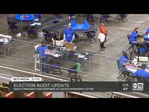 Senate President responds to D.O.J. concerns on Maricopa County election audit