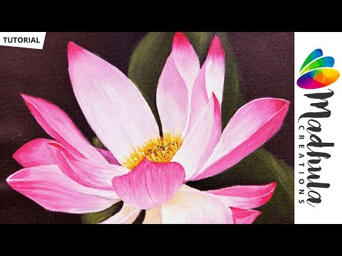 lotus-acrylic-painting---lotus-flower-painting-|-acrylic-painting-tutorial---step-by-step