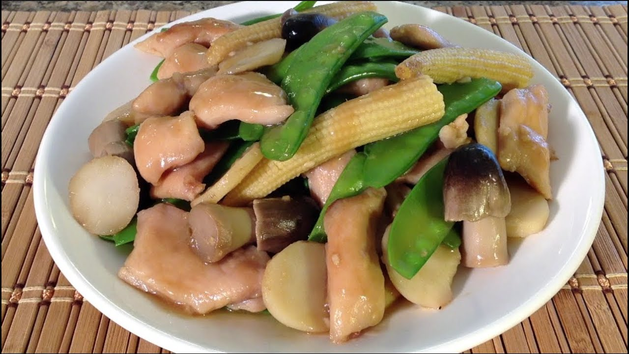 Stir-Fry Chicken Snow Peas Water Chestnuts-Chinese Food Recipes ...