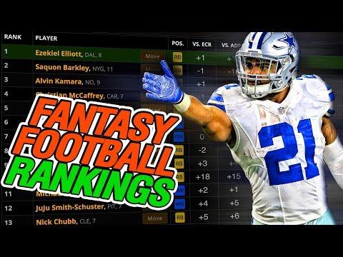 Fantasy Football Rankings 2019
