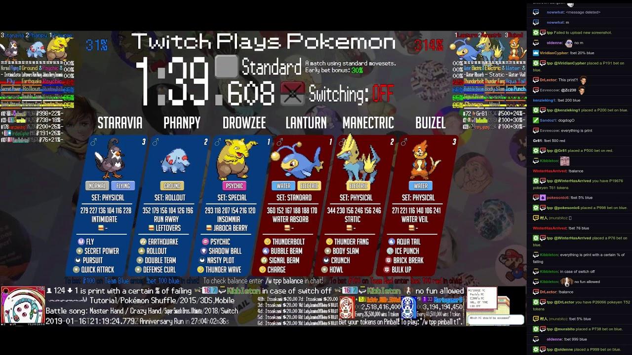 Twitch plays pokemon battle revolution betting line fedora 20 bitcoins