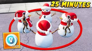 Last To Leave SNOWMAN gagne 100 000 VBUCKS. (Fortnite Battle Royale)
