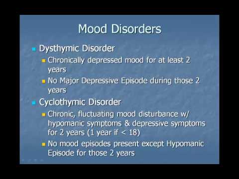 Mood disorders lecture