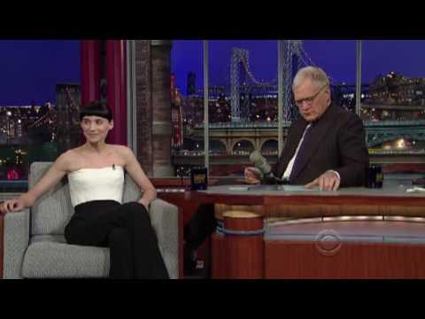 Rooney Mara on Letterman 20111214