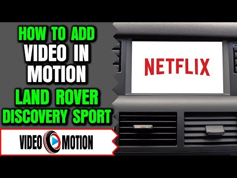 Land Rover Video In Motion Discovery Sport - How To Add Video In Motion DVD Player Land Rover
