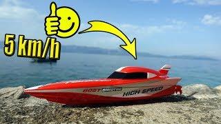 Mini RC Speed BOOT auf dem Meer im Test!