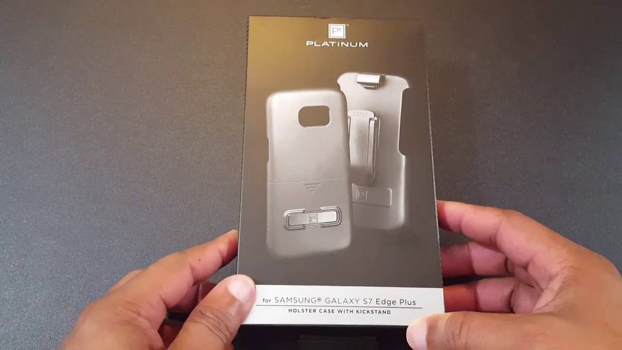 big sale ab2f3 7d4b7 Platinum - Hard shell with Holster for Samsung Galaxy S7 edge – Black
