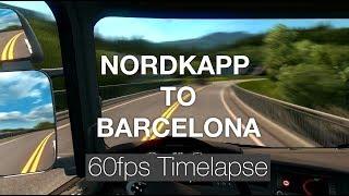 [60fps Timelapse] Nordkapp to Barcelona | ETS2 1.28 w/ Promods 2.20