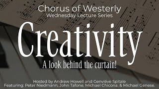 Creativity: A look behind the curtain! | Wednesday Lecture Series